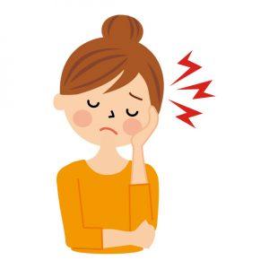 頭痛に悩む女性のイラスト