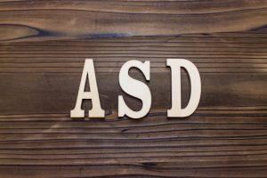 ASDの文字のイラスト