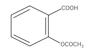 アスピリンの構造式