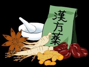 漢方薬と材料のイラスト